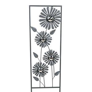 Formano Gartenstecker Blume 30 x 108 cm Metall grau Gartendekoration