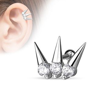 """Tragus Cartilage Helix Ohr Piercing """"Spikes"""""""