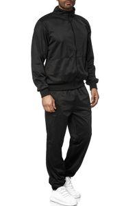 Herren Tracksuit Jogginganzug Trainingsanzug Sweatsuit , Farben:Schwarz, Größe Hosen:M