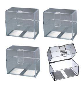 4x Herlitz Karteikasten / Lernbox / DIN A7 / transparent