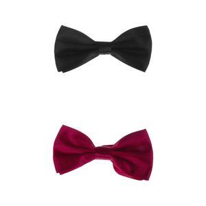 2pcs Gentlemen\'s Smoking Fliege Bowtie Krawatte für Männer J Farbe J