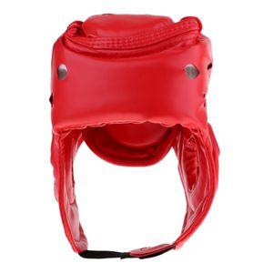Kopfbedeckung Kopfschutz Gesichtsschutzhelm Für MMA Kick Boxing Sparring wie beschrieben Rote Kinder