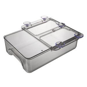 """Kühlschrank Schublade Organizer, Ziehen Bins, Kühlschrank Regal Halter Storage Box, kühlschrank Regal Saugnapf Halterung Hängen Schublade, 9.25 \""""x Farbe Transparentes Schwarz"""