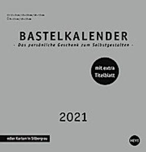 Bastelkalender 2021 silber, mittel