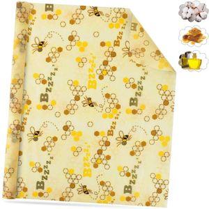 Bienenwachstücher Rolle, Wachspapier für Lebensmittel, Bees Wrap Wiederverwendbare BienenwachstuchBienenwachs Waschbare,Gesund, Umweltfreundlich (100x33cm)