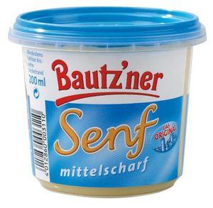 Bautzner Senf mittelscharf der Klassiker im blauen Becher 200ml