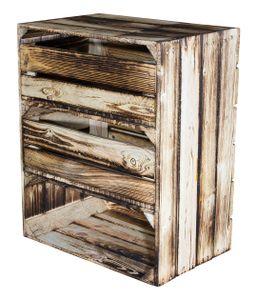 Regalkiste hoch mit 3 Fächern Geflammt  und 2 Schubladen,Obstkiste,Regal,schuhregal,Wandregal