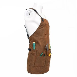 Unisex Arbeitsschürze mit Werkzeugtaschen, Gärtnerschürze Schweißerschürze Schutzschürze Werkzeugschürze für Werkzeuge, Nägel, Stifte