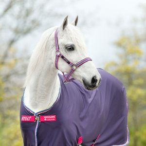 Horseware Amigo Headcollar - Grape/Pink, white and powder blue, Größe:Pony (S)