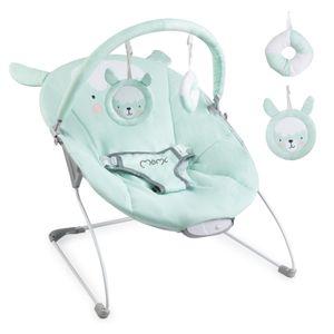 Babywippe mit Musik und Vibration Babywiege Schaukelwippe Baby Schaukel verstellbar, Babyliegestuhl Baby Schlafkorb Babysitz MoMi Glossy