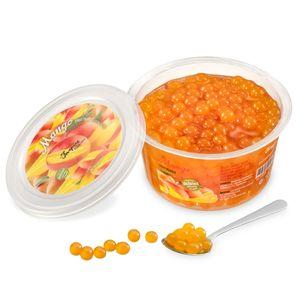 Popping Boba Fruchtperlen für Bubble Tea, Mango, 450 Gram