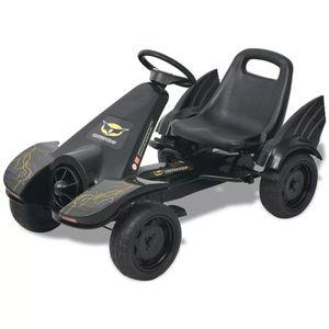 vidaXL Pedal Go-Kart mit verstellbarem Sitz Schwarz