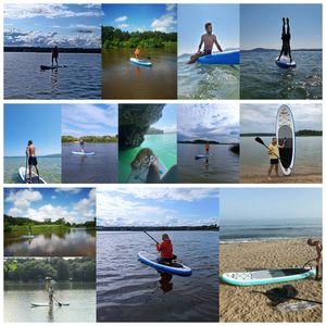 RXSY Surfbrett Stand Up Paddle Board 320x76x15cm 10.6' bis 150kg Tragbar mit Paddel, Pumpe und Komplettes Zubehör SUP Board Set für Jugen und Erwachsene