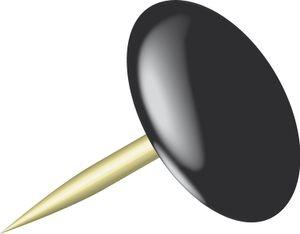 Alco reißzwecken Sun 9,5 mm Messing schwarz/gold 100 Stück