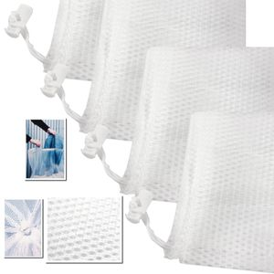 6 Stück Große Wäschenetze bis 3KG Wäsche 61x91cm Wäschenetz für die Waschmaschine sowie zur Aufbewahrung, Wäschesack Wäschetasch