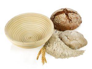 ORION Gärkörbchen Brotteig Gärkorb Brotform aus Rattan für rundes Brot Ø 21 cm