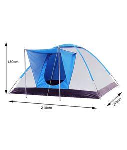 Campingzelt Kuppelzelt Kuppelzelt 2/3 Personen, Wandern Ferien Camping 210x210x130cm( Blau ) 2004 Abverkauf