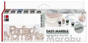 "Marabu Marmorierfarbe ""easy marble"" Set PASTELL Inhalt: 6 x 15 ml"
