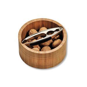 KESPER Nussschale mit Nussknacker, rund, Bambus, ø 16,6 cm / Höhe: 8 cm, 62822