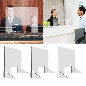 3 Stück Acryl SNEEZE GUARD Klare Office Security  Barriere