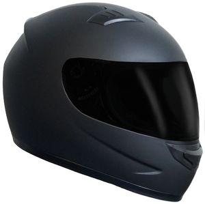 Integralhelm 508 Motorradhelm Helm Größe M Rollerhelm Sturzhelm matt schwarz getöntes Visier