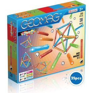 Geomag 801 - Classic Confetti 35-teilig Magnetbausteine Magnetbaukasten