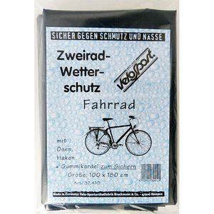 Faltgarage Fahrrad, PE grau 2 Ösen + Gummizug 180x100cm