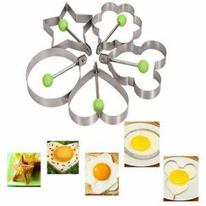 5 Stück Eierform für Spiegeleier Pancake Pfannkuchen Spiegeleierform Edelstahl