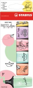 STABILO Textmarker BOSS MINI Pastellove 6er Karton-Etui