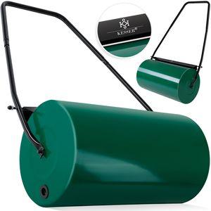 KESSER® - Rasenwalze 60cm 48l Füllvolumen Metall mit Schmutzabweiser Handwalze Rasenroller Gartenwalze Ackerwalze Walze befüllbar mit Wasser/Sand 60 kg, Farbe:Grün
