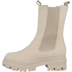 Tamaris Damen Chelsea Boots Leder Kurzschaftstiefel 1-25498-27, Größe:37 EU, Farbe:Beige