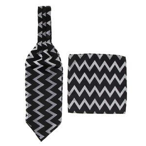 Männer Retro Paisley  Jacquard Gewebt Self Cravat Tie Ascot Einstecktuch Farbe Muster 6