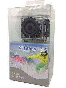 Networx TYSON Action Cam 12 MP wasserdichte Videokamera Action-Gehäuse schwarz - sehr gut
