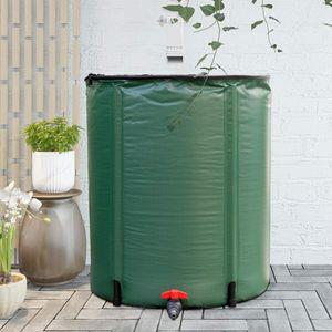 COSTWAY 200L Regentonne faltbar, Regenwassertank PVC, Regenfass Wassertank Regenwasserfass