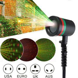 LED Laser Projektor Licht Xmas Gartenlicht Weihnachten Moving Laser Lamp Nachbildung