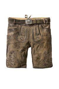 Stockerpoint - Herren Lederhose mit Gürtel, Thomas, Größe:56, Farbe:Stein geäscht