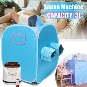 Digoo 3L Tragbares Dampfsaunazelt Heimsauna Dampfsauna Ganzkörperabnahme Saunakabine Wärmekabine Detox Therapy 1000W