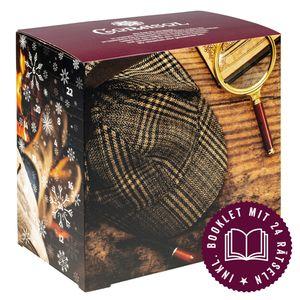 Corasol Premium Krimi & Tee Adventskalender 2020 mit 24 losen Teesorten & Krimi-Booklet mit 24 Rätseln Geschenk-Idee für Rätsel-Fans (220 g)