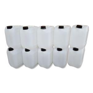 10 Stück 10 Liter Kanister, Wasserkanister Farbe natur DIN51 (10x10knn51)