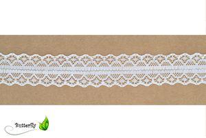 Spitzenband 30mm Weiß