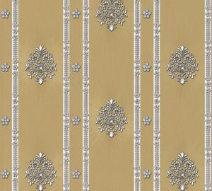 A.S. Création Satintapete Hermitage 8, gelb, metallic, 10,05 m x 0,53 m, 887344, 8873-44