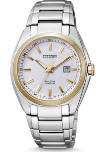 Citizen Damen-Armbanduhr XS Super Titanium Analog Titan EW2214-52A