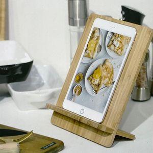 Mojawo Leseständer Kochbuchhalter / Tablethalter / Tabletständer / Bücherständer/ aus Bambus