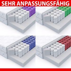 MSS® 7 Zonen Taschenfederkern Matratze 140 x 200 x 20 cm H4