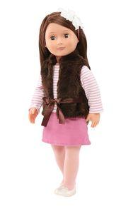 Our Generation - Sienna Puppe 46 cm mit brauner Weste