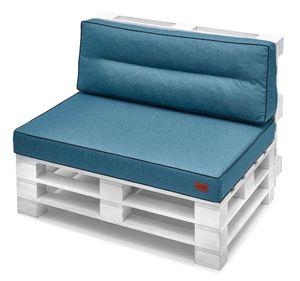 Palettenkissen 120 x 80 cm  Set Sitzkissen + Rückenkissen 120x40 cm Palettenmöbel