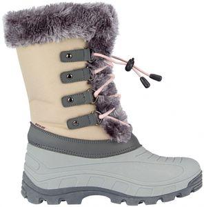 Winter-grip Damen Schneestiefel Sr Northern Glam Beige/Grau/Hell Rosa Winter-Schuhe, Größe:41/42