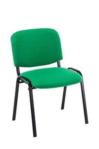 CLP Besucherstuhl Ken Stoff gepolsterter Stapelstuhl, Farbe:grün