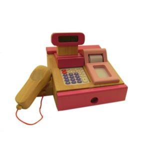 Estia 600121 Kaufladen Kasse pink Holz Rechner und Scanner