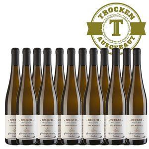 Weißwein Rheinhessen Gewürztraminer Weingut Becker Hüttberg trocken (12 x 0,75)